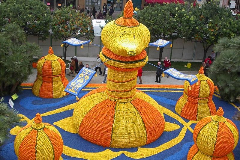 Лимонная карусель на фестивале лимонов