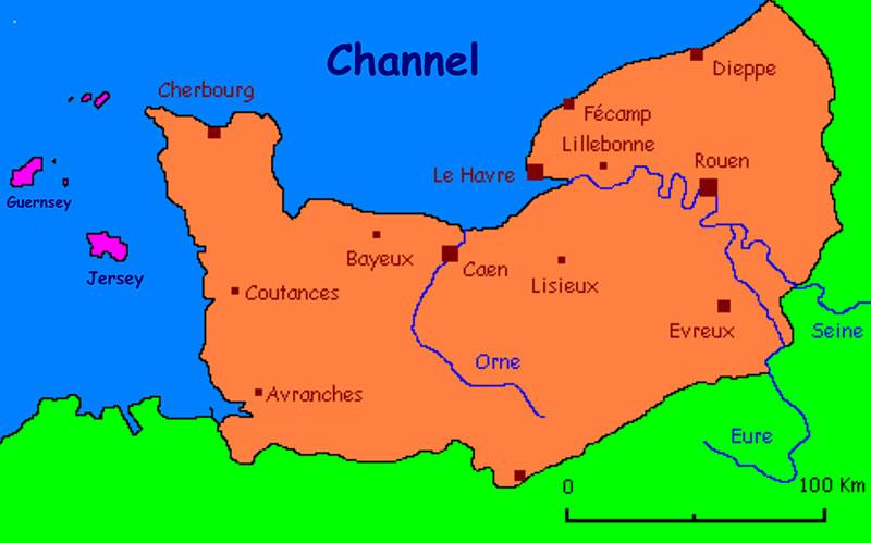 карта Нормандии